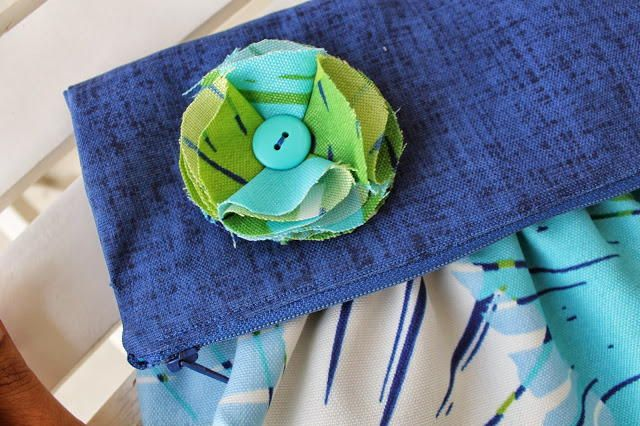 Fold Over Gathered Clutch   Make a simple and chic clutch with this beginner sewing tutorial!