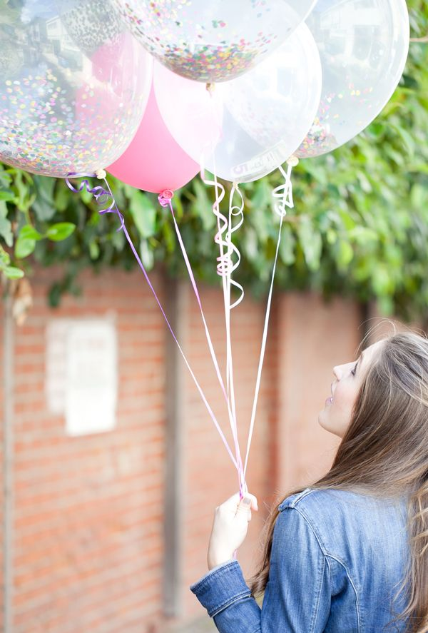 Money balloons - a great way to gift cash, instead of putting it inside a card.  Add rolled up bills and a handful of confetti to clear balloons, fill with helium and voila!