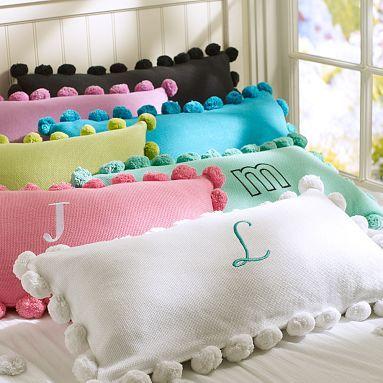 Pom Pom Organic Pillow Cover    PBteen