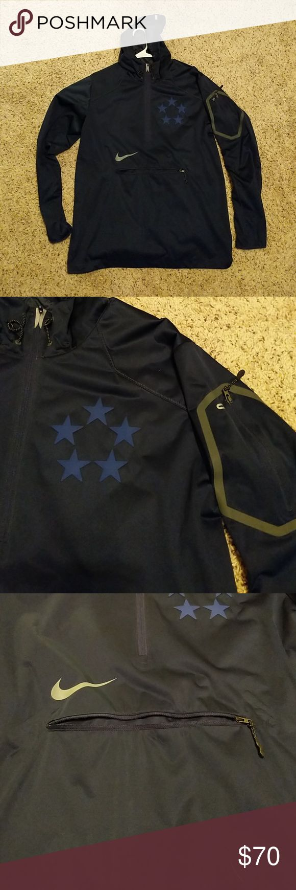 Nike Rain Jacket Dark blue Nike rain jacket. Perfect condition. Nike Jackets & Coats Raincoats
