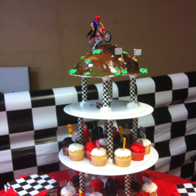 Dirt bike birthday cake...