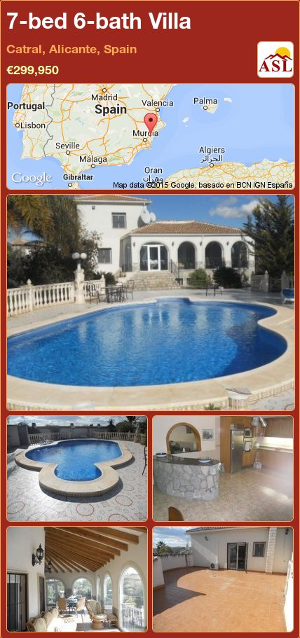 7-bed 6-bath Villa in Catral, Alicante, Spain ►€299,950 #PropertyForSaleInSpain