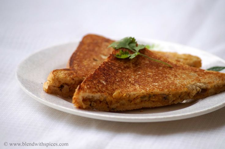 Black Eyed Peas Sandwich Recipe ~ Lobia Sandwich ~ Indian Sandwich Recipes | Indian Cuisine
