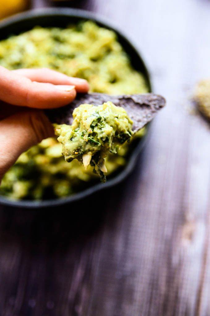 Creamy Avocado, Artichoke and Kale Dip