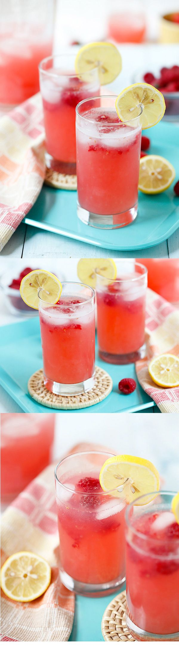 Raspberry Lemonade – sweet, refreshing and thirst-quenching lemonade with raspberry. So easy to make and takes only 10 minutes to make! | rasamalaysia.com