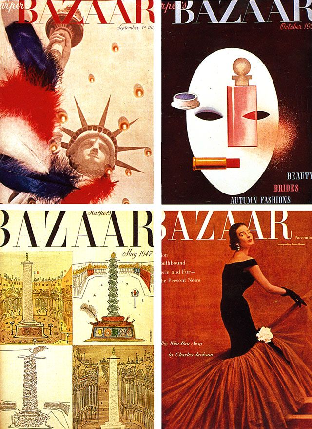 Alexey Brodovitch work for Bazaar 1939     Brodovitch is remembered today as the art director of Harper's Bazaar for nearly a quarter of a century.