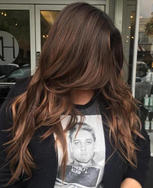Long Layered Chocolate Hair
