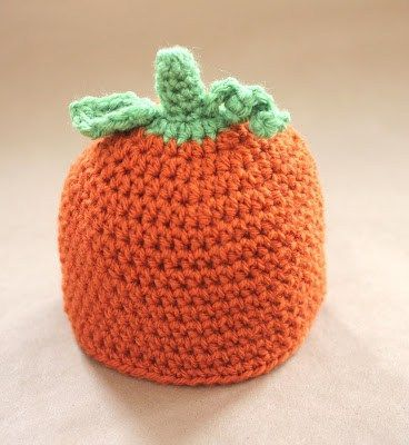 Crochet Pumpkin Hat Pattern and GIVEAWAY!