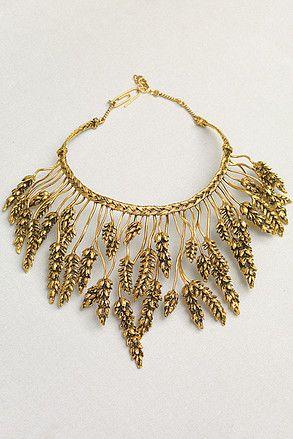 Bidermann gold dipped wheat collar: Large Necklaces, Bidermann Gold, Gold Jewellery, Statement Necklaces, Design Auréli, Aurel Bidermann, Necklaces Bridal, Colour Necklaces, Bidermann Gold