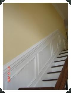 Fake Wainscoting Stairs