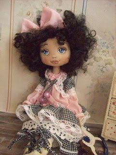 Trixidreams: Elena textile doll