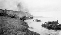 This is a picture of the Dieppe Raid, Canada and the british landed on the shore to attack Germany, but Germany was ready and there were over 7000 causalities. The public was shocked and now so many families lost a member and it was a sad point in time.