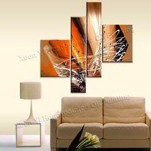 100% el yapımı büyük duvar sanatı tuval kaliteli ev dekorasyonu modern soyut yağlıboya duvar resimleri oturma odası(China (Mainland))