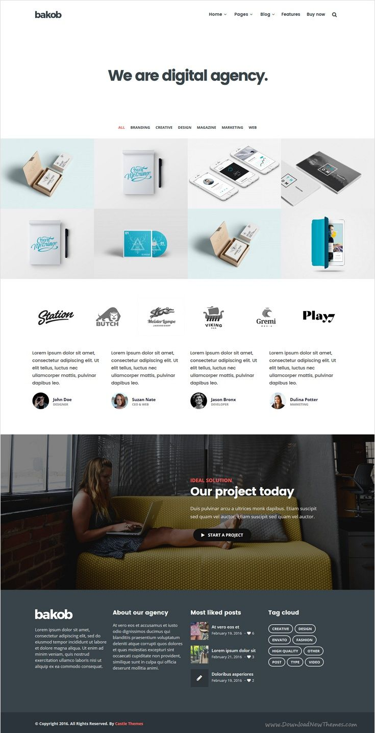 Bakob is a stunning #WordPress theme packed with the best #freelancer #portfolio website building features with 22+ different homepage layouts download now➩ https://themeforest.net/item/bakob-creative-multipurpose-wordpress-theme/16821455?ref=Datasata