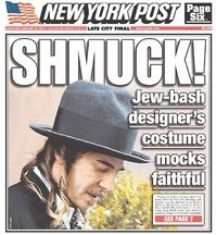 The Anti-Defamation League Defends John Galliano Against The New York Post
