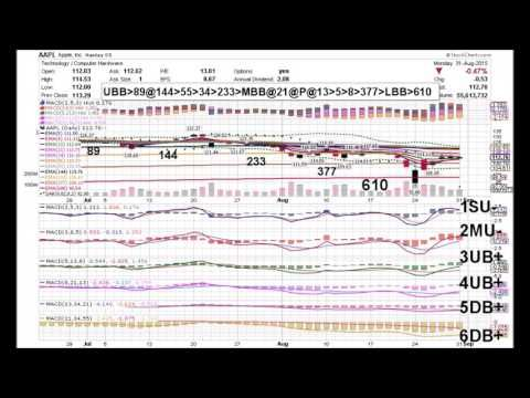 APPLE 09 23 15 AAPL DAILY ANIMATED TIME PRICE THEORY STOCK CHARTS by Edward K Weigel - YouTube