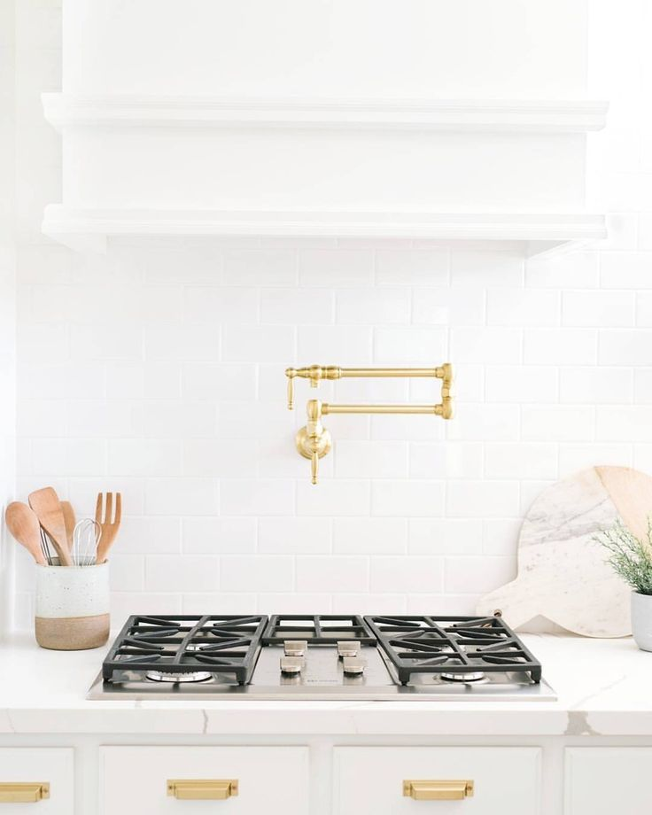 Best White And Gold Kitchen Kitchen Stove Gas Stove Top 400 x 300