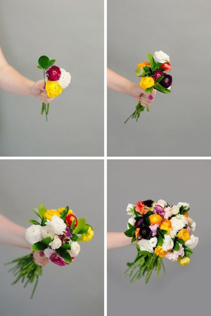 How to make flower bouquet for wedding step by