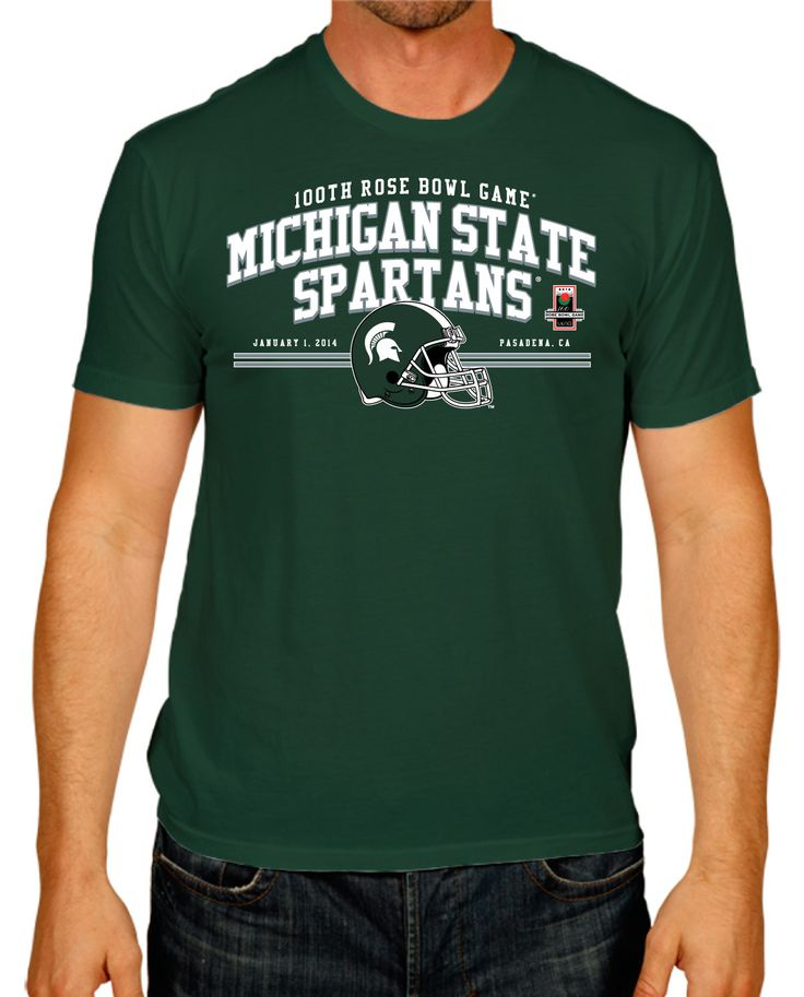 Michigan State Spartans The Victory 2014 100th Rose Bowl Game Green T-Shirt