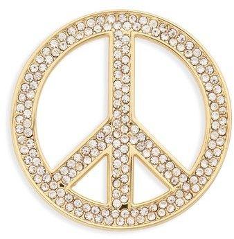 Michael Kors Peace Sign Symbol Accessory Pin - Metallic