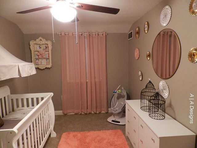 Nursery Views ..Still a Few things to add But its Almost Picture Perfect 👑 Schedule your Consultation Today www.Abligeinteriors.com abligedesigns@gmail.com 🏡🔨#AbligeDesigns #InteriorStylist #Homestager #CustomFurnishings #DecorDoctor #DMV #Baltimore #MarylandDesigner #AffordableLuxuryLiving #HomeMakeover #Hgtv #Decor #Design #Realestate #NurseryForHer @bratt_decor  This is an awesome break from your conventional pink for a nursery. I like this.