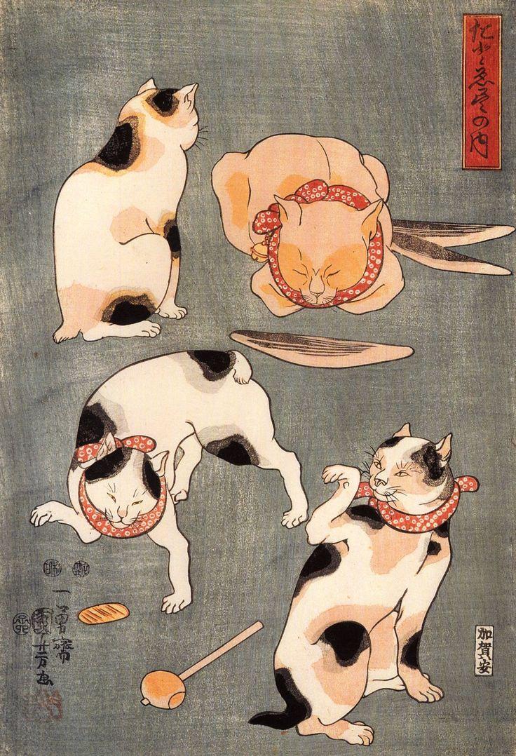 Utagawa Kuniyoshi - Cats