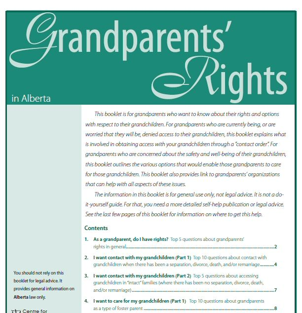 grandparent rights In some families, grandparents play a special role, which can enrich a grandchild's life when grandparents have established a healthy bond, courts may uphold their.