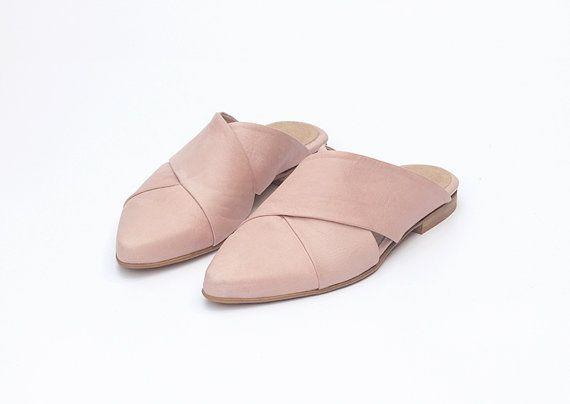 Plano zapatos para novia de la novia pisos de boda por KatzAndBirds