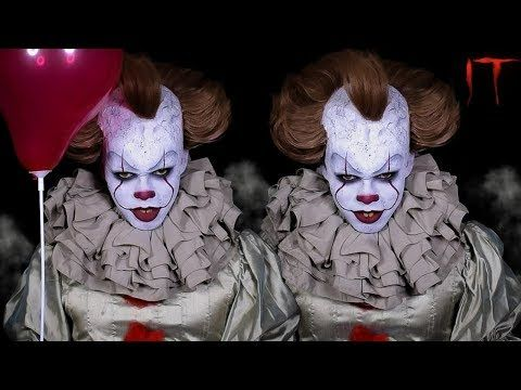 It 2017 - Pennywise Halloween Makeup Tutorial | V. °155 http://makeup-project.ru/2017/09/08/it-2017-pennywise-halloween-makeup-tutorial-v-155/