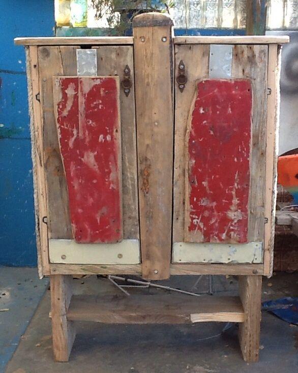 Driftwood 'Oar' Kassie Random driftwood cabinet, with a lost oar
