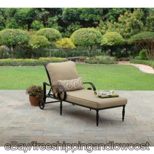 Outdoors Yard Sun Deck Bed Cushion Patio Chaise Lounge Garden Furniture  Aluminum