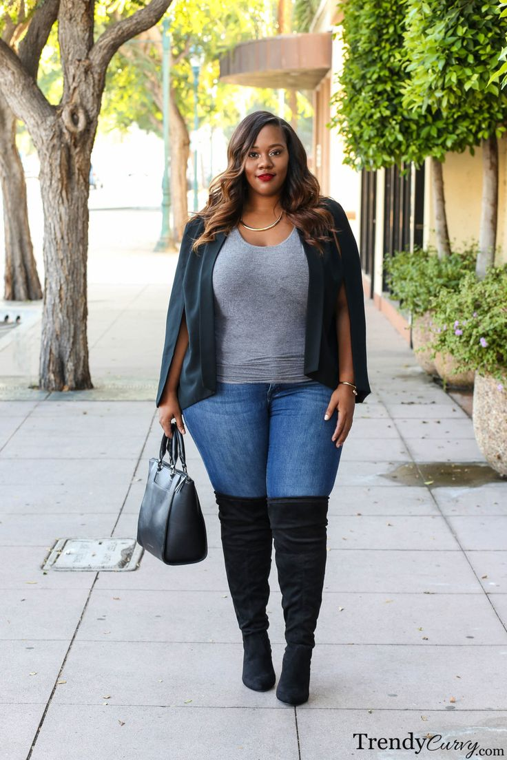 TrendyCurvy   Plus Size Fall Fashion   Over-the-knee boots