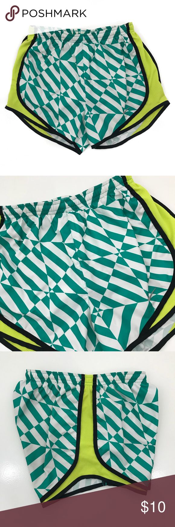 Nike Dri-Fit Shorts • Graphic Dri-Fit shorts with a drawstring waist. These are in great condition. Nike Shorts