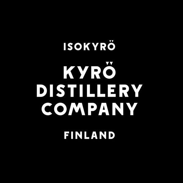 Logotype built from a custom typeface designed by Werklig for Kyrö Distillery Company