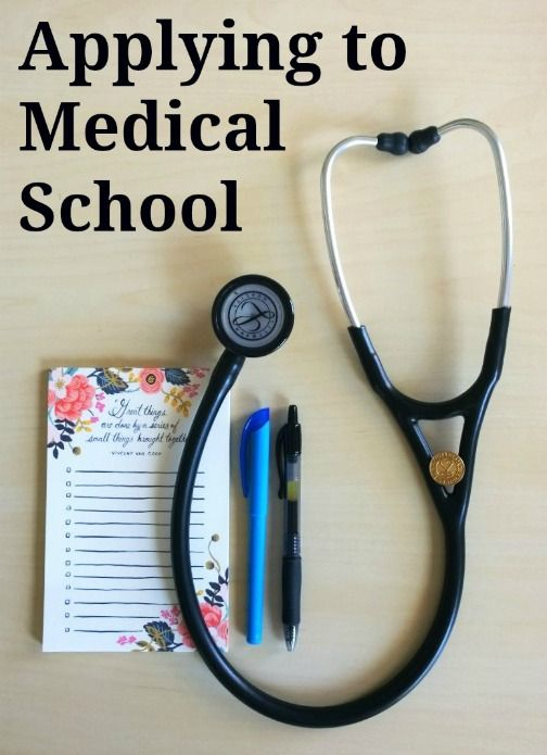 Tips for applying to medical school. This post has some good tips