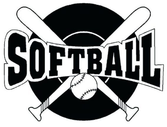 Printable Softball Logo Coloring Sheets Sports Coloring Pages Softball Clipart Softball