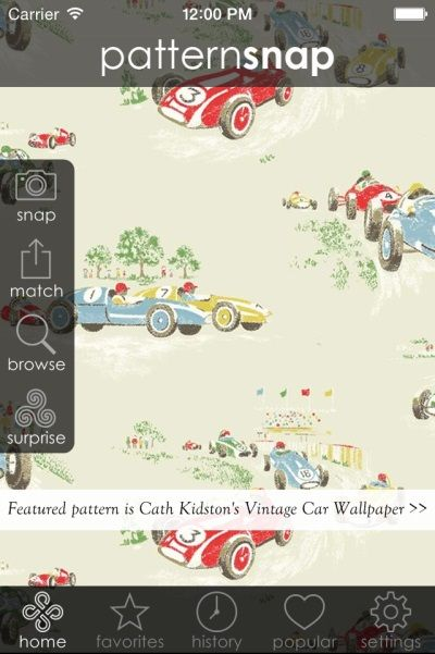 25.7.14 - Today's Featured pattern is Cath Kidston's 'Vintage Car Wallpaper'