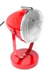 Tischlampe im Oldtimer Autoscheinwerfer Look