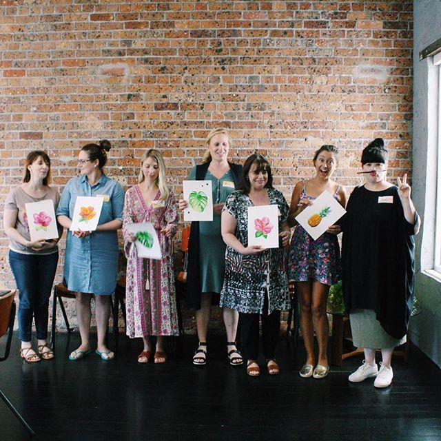 A+ - some of our students today at @sarahhankinsonillustration's Watercolour workshop. Brilliant work!