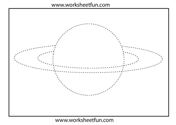 Picture Tracing - Planet | Preschool Worksheets ...
