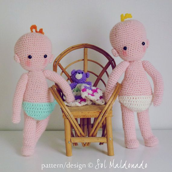 [PAID] Baby Doll Crochet pattern amigurumi PDF - babies crochet toy playfull doll - Instant Download