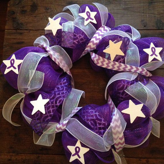Pancreatic Cancer Awareness Support Wreath by WetNosesWarmHearts