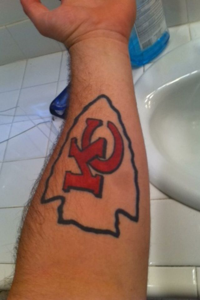 27 best images about kansas city chiefs tattoos on