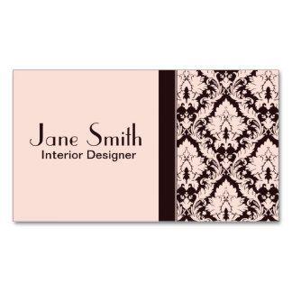 Profesional floral del damasco con clase elegante tarjetas de visita