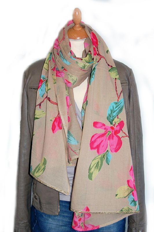 Imbarro shawl, katoen, Magnolia, écru