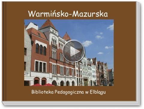 Book titled 'Warmińsko-Mazurska'