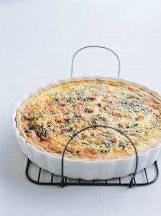 smoked ham and cheddar quiche - made a modified version of this, it was so great and Jimmy loved for breakfast the next day too, it was great for dinner and easy way to use up leftover ham, sausage, bacon, I added maple syrup when I was cooking the meat, it was fantastic!