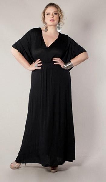 Joan Maxi-Dress Plus-size - Black
