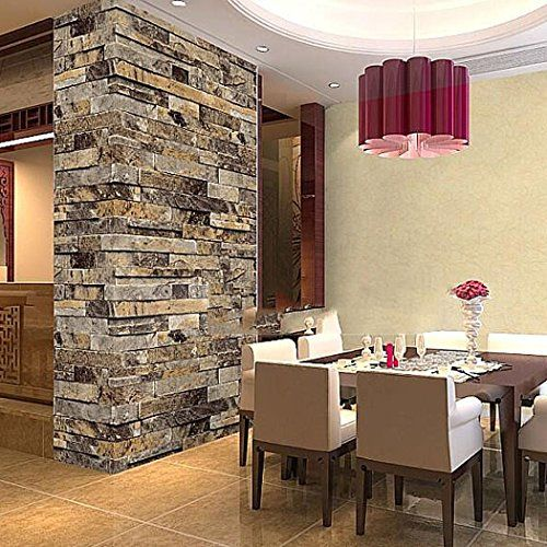 1000 ideas about embossed wallpaper on pinterest - Paredes decoradas con piedra ...