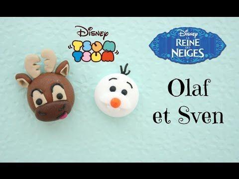 Disney Olaf & Sven Tsum Tsum polymer clay tutorial